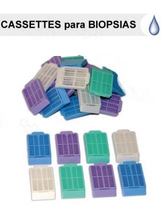 Cassettes para biopsia con tapa x 500 unidades